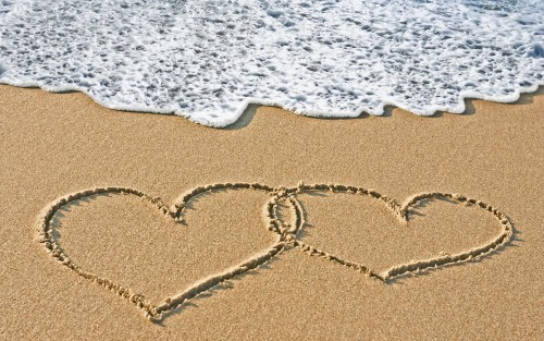 beach love wallpaper